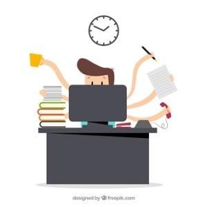 Productividad en trabajador desordenado
