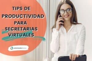 Tips Productividad Secretaria Virtual